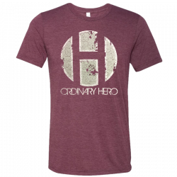 Ordinary Hero Heather Maroon Logo tee