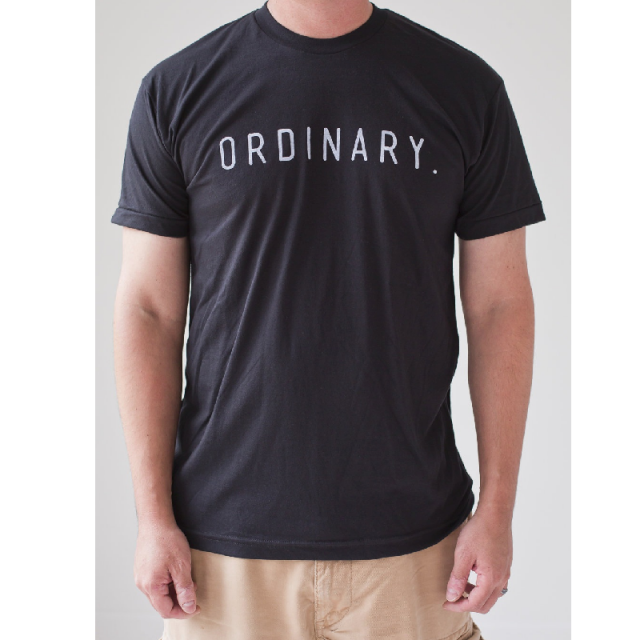 Ordinary Hero Black Logo Tee