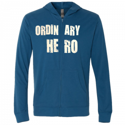 Ordinary Hero Cool Blue Zip Hoodie