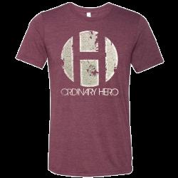 Ordinary Hero Heather Maroon Logo tee
