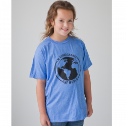 Ordinary Hero Youth Heather Royal Tee- I'm Gonna Change the World